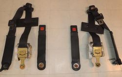 Black Front Seat Belts