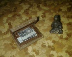 secret book and budha