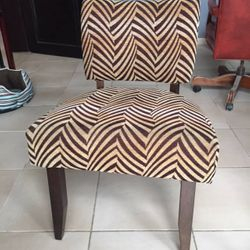 Two Fabric Chairs Available