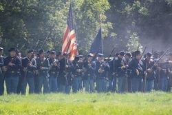 Federal Battalion, line of battle