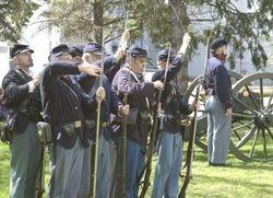 Loading during 21 gun salute