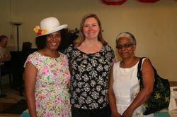 member Juanita with guests