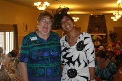 Club President, Carol H & Jr member Amira