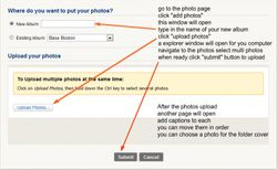 How to upload photos page 2