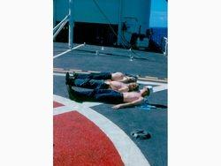 GITMO flight deck tanning