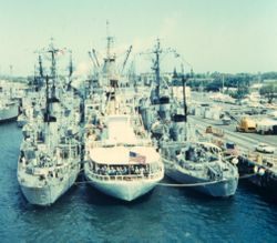 CGC Yakatat moored in Pearl Harbor