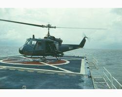 Helo on the flight deck 1970