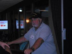 JJ O'Neil at the Sea Stories Podium