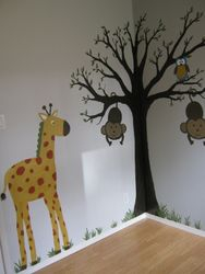 Wall art for a nursery safari jungle look to match room decor
