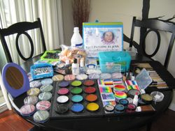 My Face painting supplies