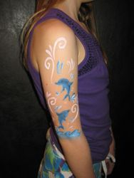 dolphin arm painting