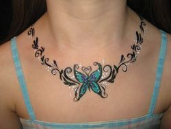 butterfly necklace with glitter
