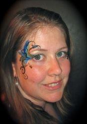 Quick eye design with glitter