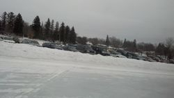 Parking lot from the track