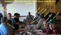 Exhibitors having lunch - 6-18-2011
