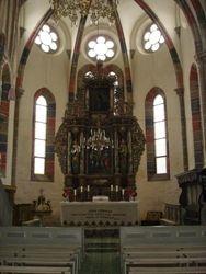 Vedere din interiorul bisericii