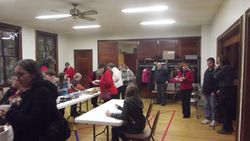Attenders enjoy refreshments and fellowship together