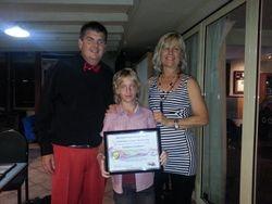 Tristan receiving his certificate