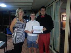 Jeff Bennett receiving his certificate