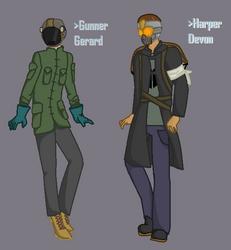 Based OCs: Gunner Gerard and Harper Devon