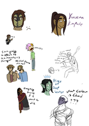 i know i already posted 2 bits of this but here's the full doodle dump (all-digital doodles)