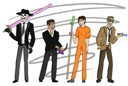 au in which the godkiller weapons are dildos (skulduggery pleasant fanart)