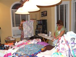 Over 400 dresses can be sent abroad