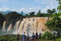 Vodopadi Plavog Nila u punoj snazi