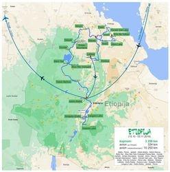 CompanionS putovanje po Etiopiji - Afrika - mapa puta