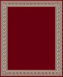 Greek Key Red