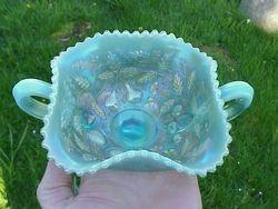 Fruits and Flowers bon bon, in pastel aqua opal