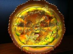 Chrysanthemum large ice cream shape bowl, marigold