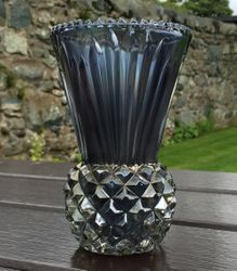 Thistle vase in smoke,  Canning Town Glass