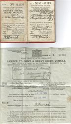 Driver's license of  Alfred French