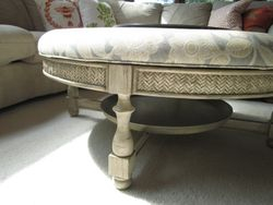 Antiqued ottoman