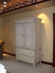 Antiqued armoire