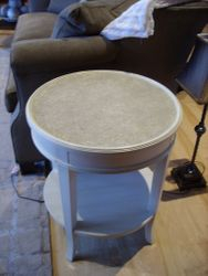 Dry brush/ stone look end table
