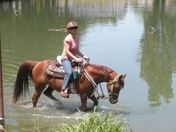 Zar and Kim do some pond work