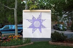 Purple wonky star for guild outreach project