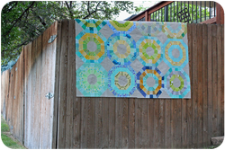 Octagonal Orbs quilt top