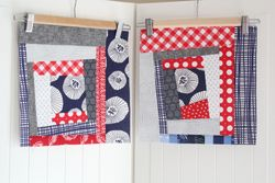Wonky log cabins for Quilts for Cancer bee