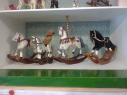 Fitted in the carousel horse