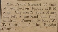 Mrs. Frank Stewart