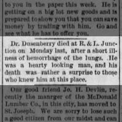 Dr. F. M. Dusenberry