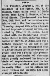 Lucy Haynes 1