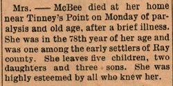 Elizabeth McBee