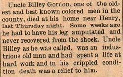 """William """"Billy"""" Gordon"""