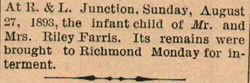 Infant Farris
