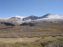 Arriving at the summit of Guanella Pass
