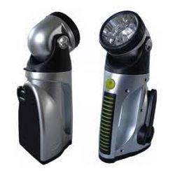 Flashlight - battery-powered or hand-crank